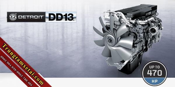 Động cơ detroit dd13 xe đầu kéo mỹ freightliner không giường đời 2012-trungtamxetai.com