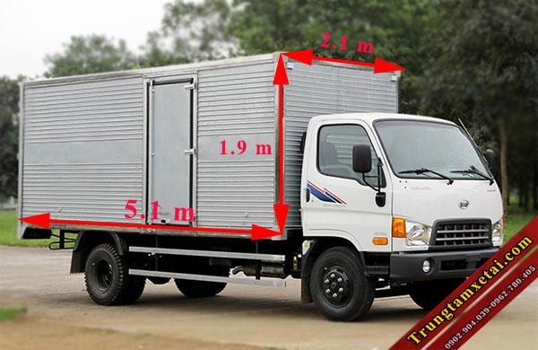 kích thước thùng xe tải hyundai hd800 8 tấn-trungtamxetai.com