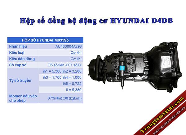 hộp số xe tải hyundai 8 tấn hd101 đô thành-trungtamxetai.com