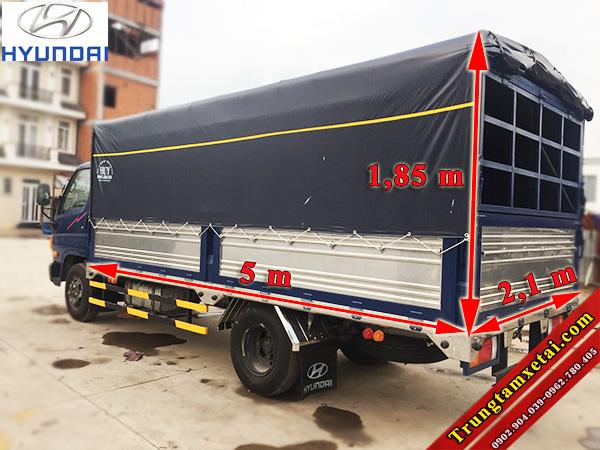 Kích thước thùng xe tải Hyundai HD72 NK thùng mui bạt-trungtamxetai.com