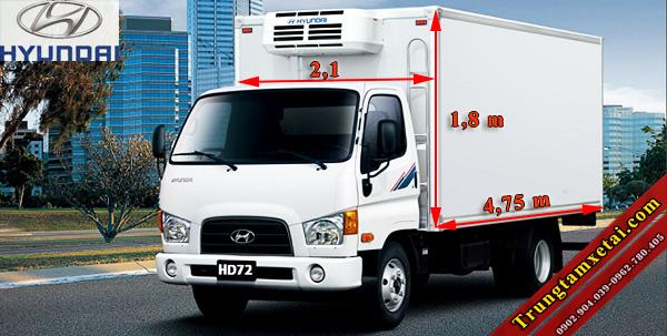 Kích thước thùng xe tải Hyundai HD72 3T5 nhập khẩu-trungtamxetai.com