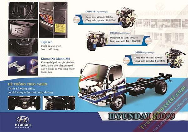 nội thất Hyundai HD99 6T5-trungtamxetai.com