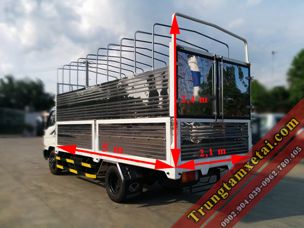 Kích thước lòng thùng xe tải Hyundai HD72 Đô Thành-trungtamxetai.com