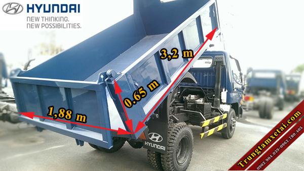 Thùng xe ben Hyundai 5 tấn HD99 Đô Thành-trungtamxetai.com