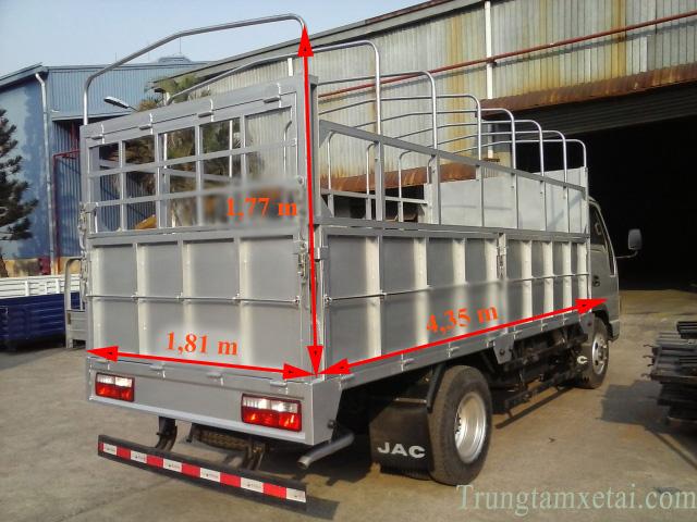 Thùng xe tải JAC 3T45-trungtamxetai.com