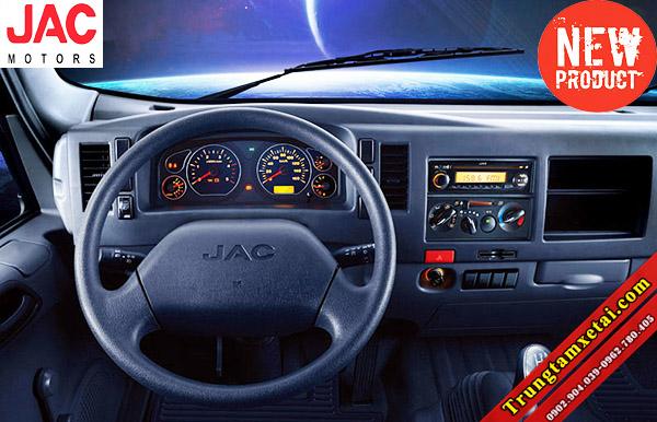 Cabin-nội thất xe tải Jac 5 tấn 4950LD công nghệ ISUZU-trungtamxetai.com