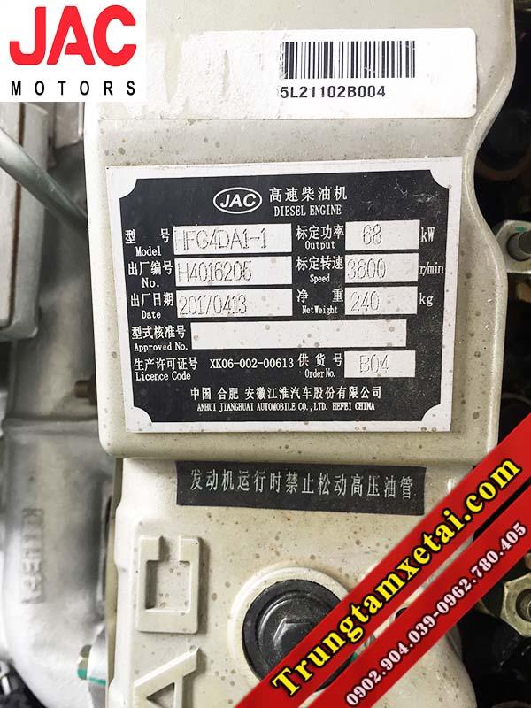 Động cơ xe tải JAC bền bỉ với công nghệ của hãng xe ISUZU Nhật Bản-trungtamxetai.com