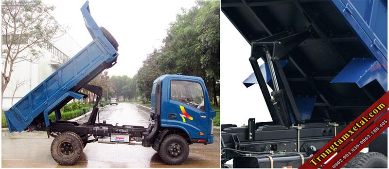 thùng xe ben veam vb200 2 tấn mới