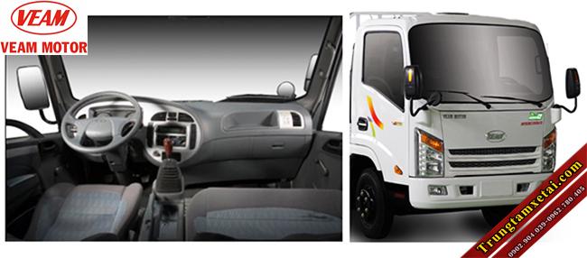 Cabin xe tải VEAM VT255 2T5-trungtamxetai.com