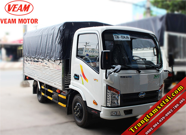Xe tải VEAM VT255 2T49 nâng tải giá rẻ-trungtamxetai.com