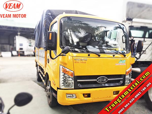 Xe tải VEAM VT255 tải trọng 2T49 thùng mui bạt-trungtamxetai.com