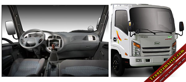 Cabin xe tải Veam VT260 thùng dài 6,1m-trungtamxetai.com
