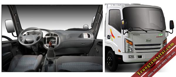 Cabin xe tải Veam VT340S 3T5 thùng dài 6m1-trungtamxetai.com