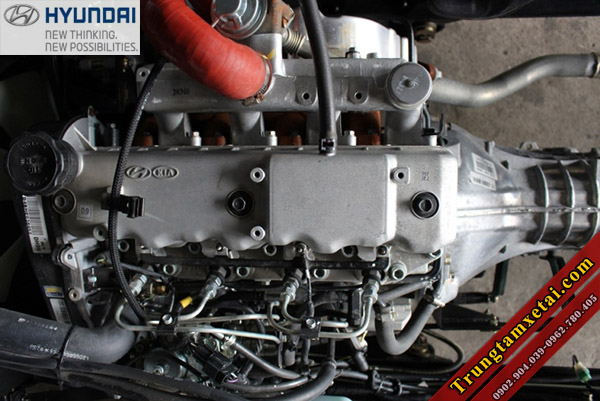 Động cơ Hyundai D4BH trên xe tải Veam VT340S 3T5 thùng dài 6m1-trungtamxetai.com