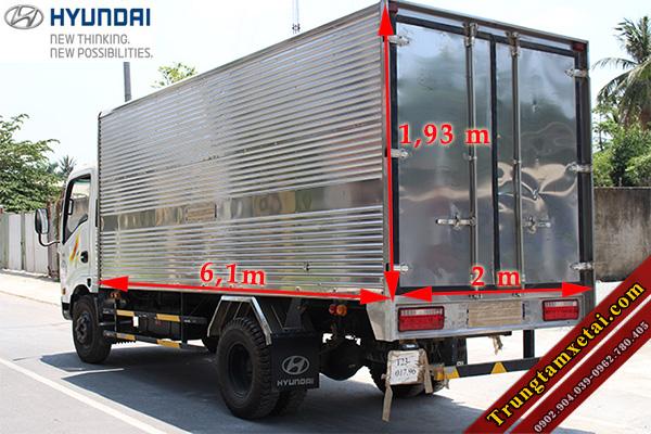 Kích thước thùng xe tải Veam VT340S 3T5-trungtamxetai.com