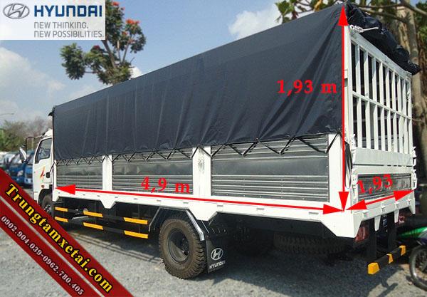 Kích thước thùng xe Veam VT350 MB1 3T5-trungtamxetai.com