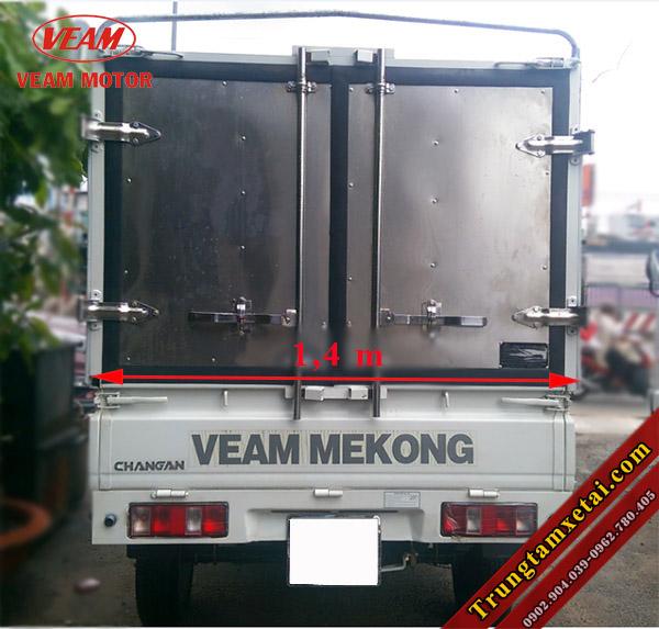 Kích thước thùng xe tải Veam Star 740Kg mui bạt-trungtamxetai.com