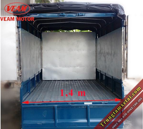 Thùng xe Veam Star 740Kg mui bạt-trungtamxetai.com
