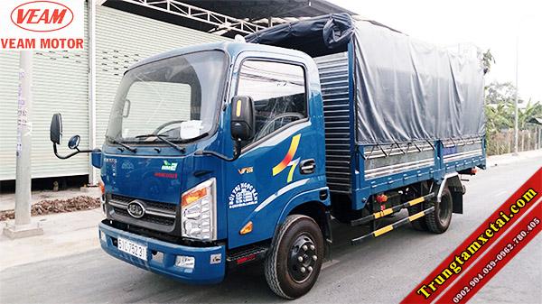 Xe tải Veam VT200 2 tấn thùng mui bạt cũ đời 2015-trungtamxetai.com