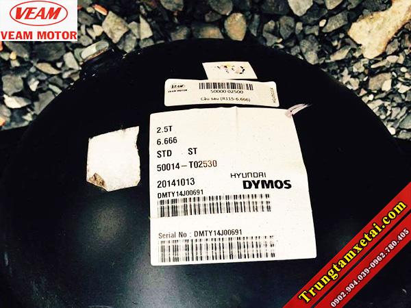 Cầu Dymos chính hãng trên xe tải Veam VT201 1T99-trungtamxetai.com
