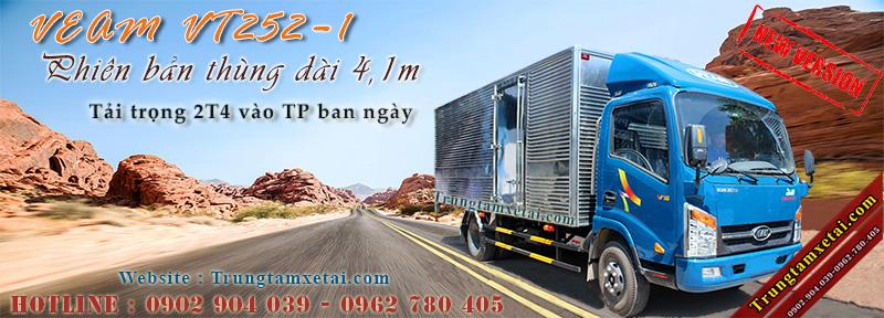 Xe tải Veam VT252-1 2T5 thùng dài 4m1-trungtamxetai.com