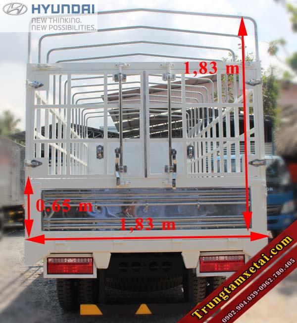 Thùng xe Veam VT252-1 thùng dài 4,1m-trungtamxetai.com