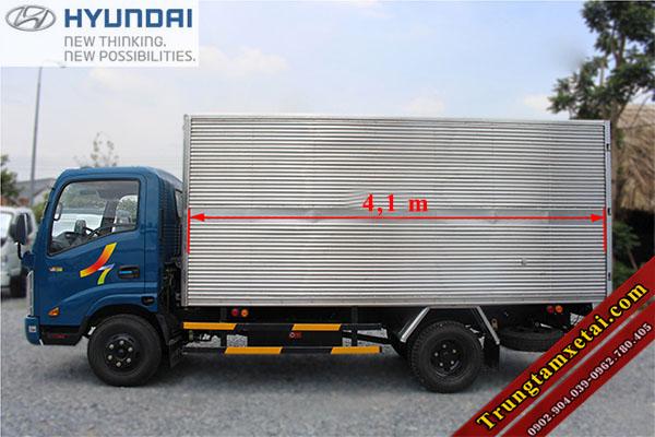 Kích thước thùng xe Veam VT252-1 thùng dài 4,1m-trungtamxetai.com
