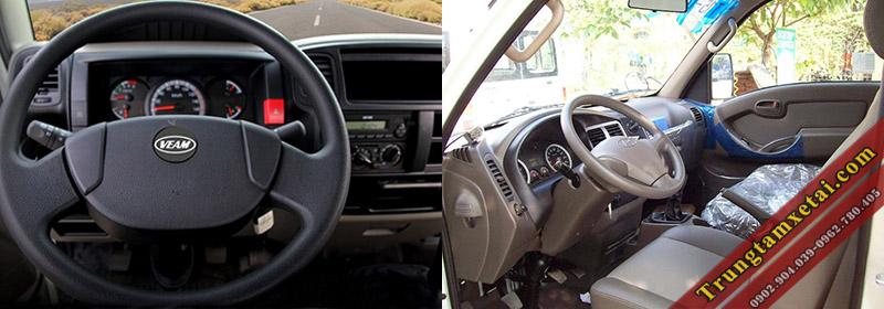 Nội thất xe tải Veam VT651-trungtamxetai.com