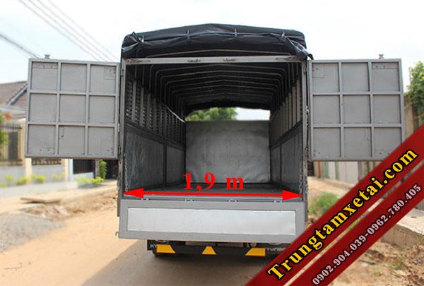 Kích thước thùng xe tải Veam VT651-trungtamxetai.com