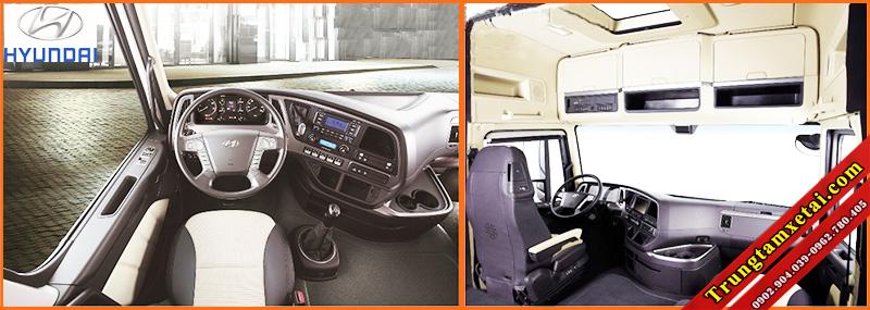 Cabin nội thất xe ben Hyundai Trago 12 tấn 2 cầu 9 khối 7-trungtamxetai.com