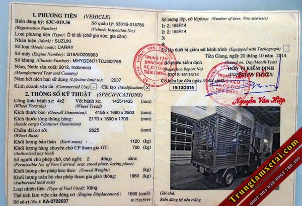 Giấy chứng nhận đăng kiểm xe tải chở gia cầm-trungtamxetai.com
