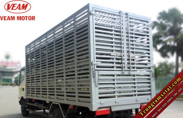 Xe chở gia cầm - Xe chở gà vịt-xe tải Veam cải tạo-trungtamxetai.com