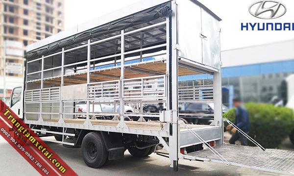 Bửng nâng xe tải thùng chở xe máy-trungtamxetai.com