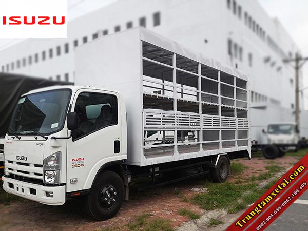 Xe tải thùng chở xe gắn máy có bửng nâng-trungtamxetai.com