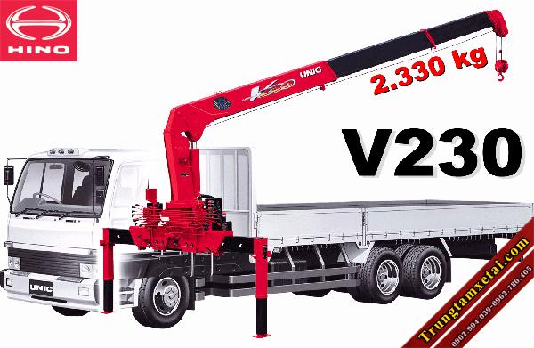 Xe tải gắn cẩu Unit 230 2 tấn trên xe Hino-trungtamxetai.com