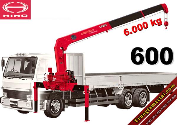 Xe tải gắn cẩu Unit 6 tấn trên xe Hino-trungtamxetai.com